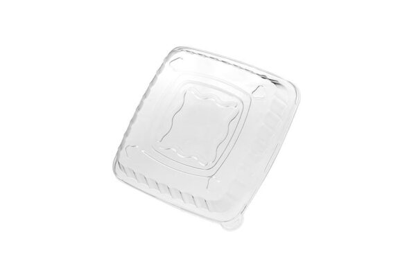 R-PET Lid 19x19x4.2 cm for Sugarcane Salad Bowl, Square | TESSERA Bio Products®