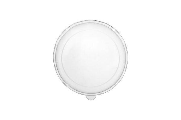 R-PET Deckel Ø 21,4 cm für Zuckerrohr-Salatschüssel 750-1000ml, rund | TESSERA Bio Products®