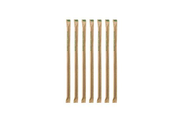 Paper Straws Straight Kraft Ø 0.42 cm - 19 cm, Wrapped 1/1 | TESSERA Bio Products®