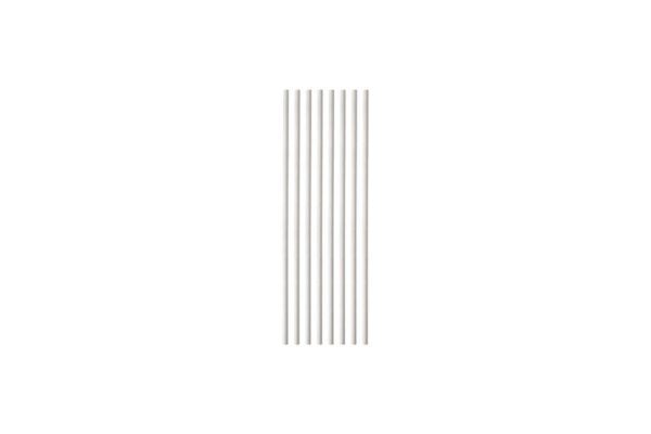 Paper Straws Straight White Ø 0.42 cm - 19 cm | TESSERA Bio Products®