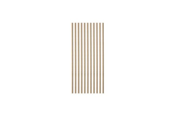 Papiertrinkhalme, gerade, Kraft Ø 0,5 cm, 21 cm | TESSERA Bio Products®