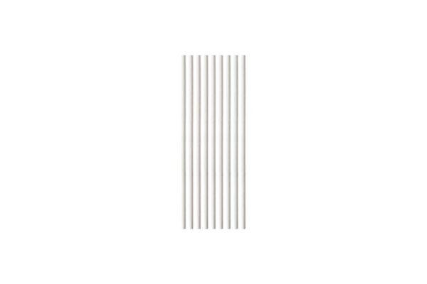 Papiertrinkhalme, gerade, weiß Ø 0,5 cm, 21 cm | TESSERA Bio Products®
