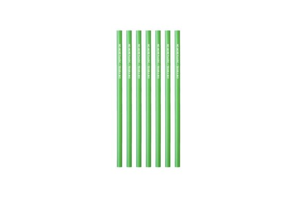 Pla Straws Straight Green Jumbo Ø 0.7 cm - 24 cm, No More Plastic | TESSERA Bio Products®