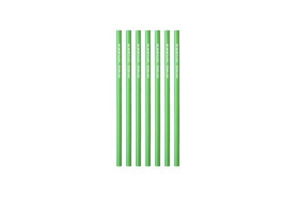 Pla Straws Straight Green Jumbo Ø 0.7 cm - 24 cm, No More Plastic | TESSERA Bio Products®