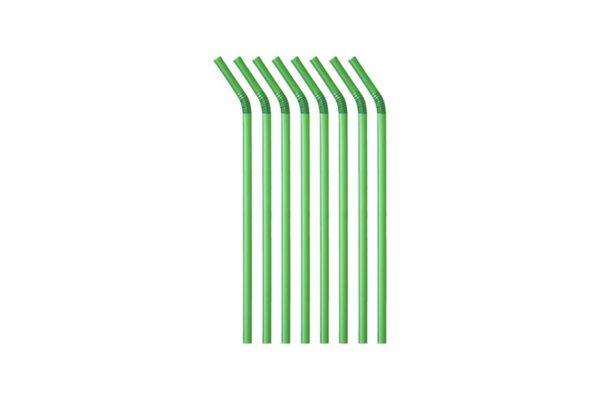 PLA Straws Flexible Green Jumbo Ø 0.8 cm, 24 cm | TESSERA Bio Products®