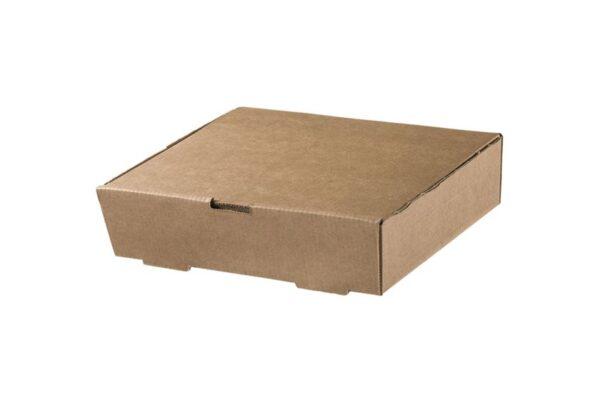 Χάρτινο Kraft Κουτί Φαγητού Παραλληλόγραμμο 21.6x17x5.4 cm | TESSERA Bio Products®