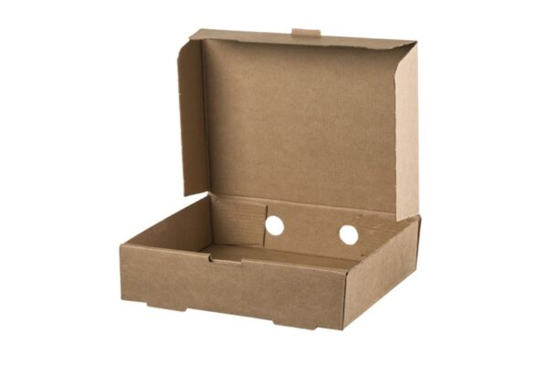 Kraft Corrugated Rectangular Food Box, 21.6x17x5.4 cm | TESSERA Bio Products®