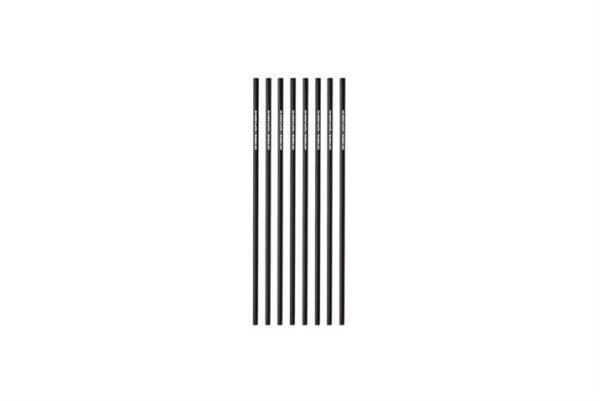 PLA Trinkhalme gerade schwarz Ø 0,42 cm - 18,5 cm, No More Plastic | TESSERA Bio Products®