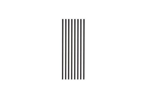 PLA Trinkhalme gerade schwarz Ø 0,42 cm, 18,5 cm | TESSERA Bio Products®