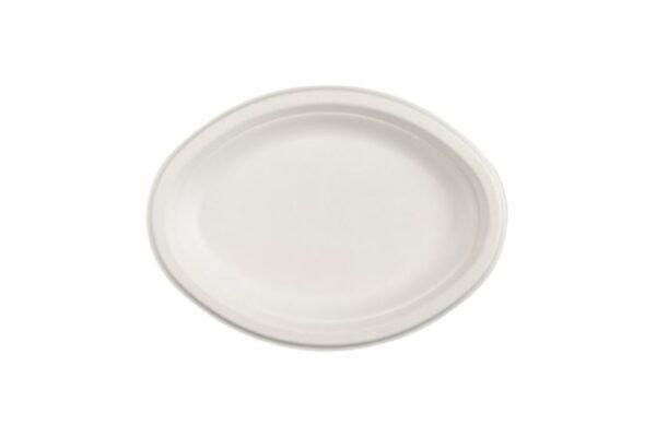 Sugarcane Platter 25x19.5 cm, Oval | TESSERA Bio Products®