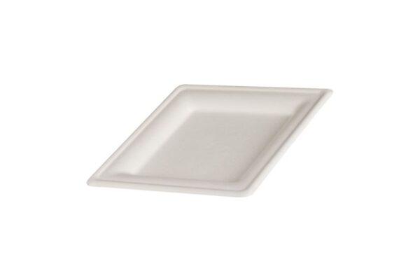 Πιάτο Τετράγωνο 20x20 cm, Ζαχαροκάλαμο | TESSERA Bio Products®