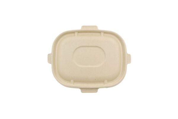 Σκεύος Φαγητού Μ/W Παραλληλόγραμμο 1100ml Safe Lock, Ζαχαροκάλαμο | TESSERA Bio Products®