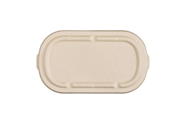 Sugarcane lid For M/W Sugarcane Food Container 850-1000ml | TESSERA Bio Products®