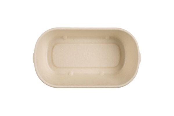 Mikrowellen-Lebensmittelbehälter aus Zuckerrohr 1000ml, rechteckig | TESSERA Bio Products®