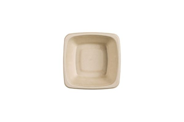 Zuckerrohr-Salatschüssel 500ml, quadratisch | TESSERA Bio Products®