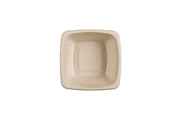 Zuckerrohr-Salatschüssel 750ml, quadratisch | TESSERA Bio Products®
