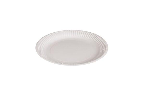 Runde Pappteller weiß Ø 23 cm | TESSERA Bio Products®