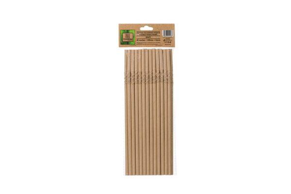 Papiertrinkhalme, flexibel, Kraft Ø 0,6 cm, 21 cm | TESSERA Bio Products®