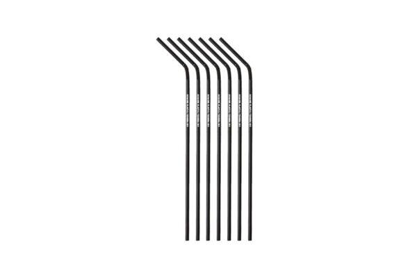 PLA Straws Flexible Black Ø 0.5 cm, 24 cm, No More Plastic | TESSERA Bio Products®