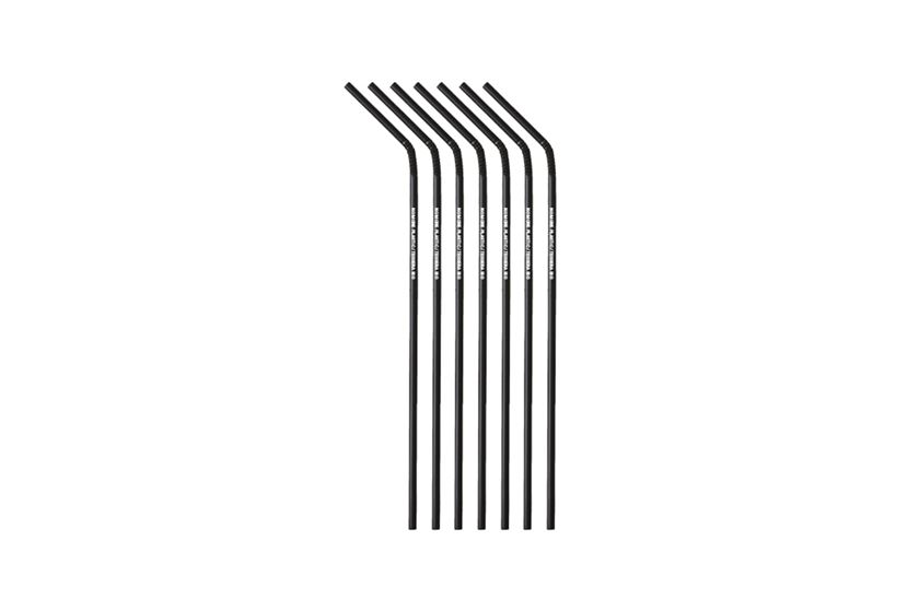 PLA Trinkhalme flexibel schwarz Ø 0,5 cm, 24 cm, No More Plastic | TESSERA Bio Products®