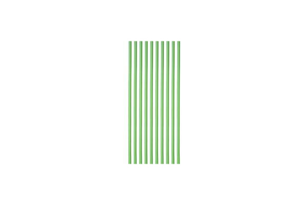 Καλαμάκια PLA Ίσια Πράσινα Ø 0.42 cm, 18.5 cm | TESSERA Bio Products®