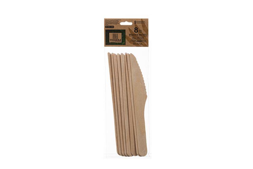 Ξύλινο Μαχαίρι, 16 cm, 8 τεμ. | TESSERA Bio Products®