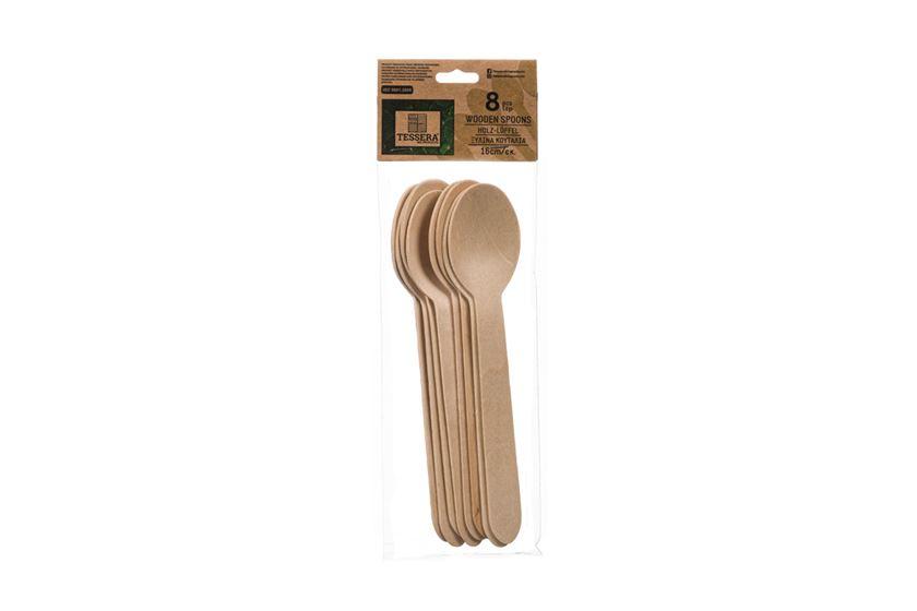 Ξύλινο Κουτάλι, 16 cm, 8 τεμ. | TESSERA Bio Products®