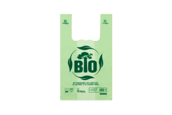 Τσάντα T-SHIRT Βιοδιασπώμενη Πράσινη 22x37 cm | TESSERA Bio Products®