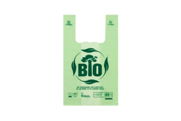 Τσάντα T-SHIRT Βιοδιασπώμενη Πράσινη 30x60 cm | TESSERA Bio Products®