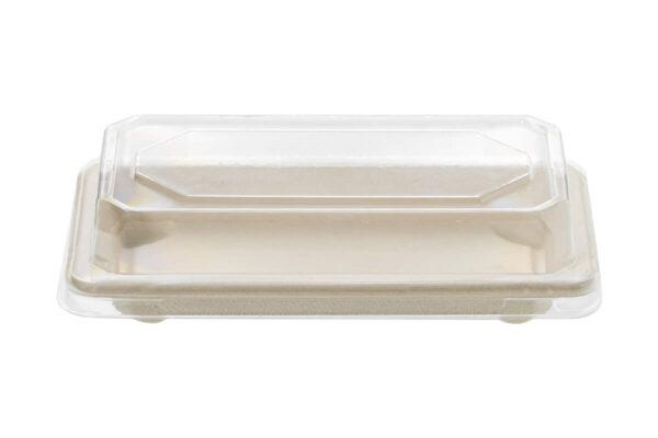 Zuckerrohr – Sushi Tray Nr. 4 mit klarem PET – Deckel 164 x 89 x 21 cm | TESSERA Bio Products®