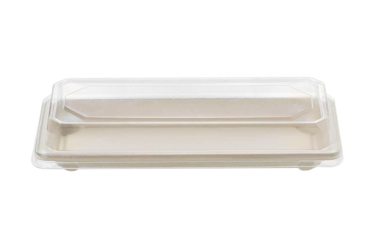 Σκεύος Σούσι από Ζαχαροκάλαμο Ν.6 με Καπάκι RPET | TESSERA Bio Products®