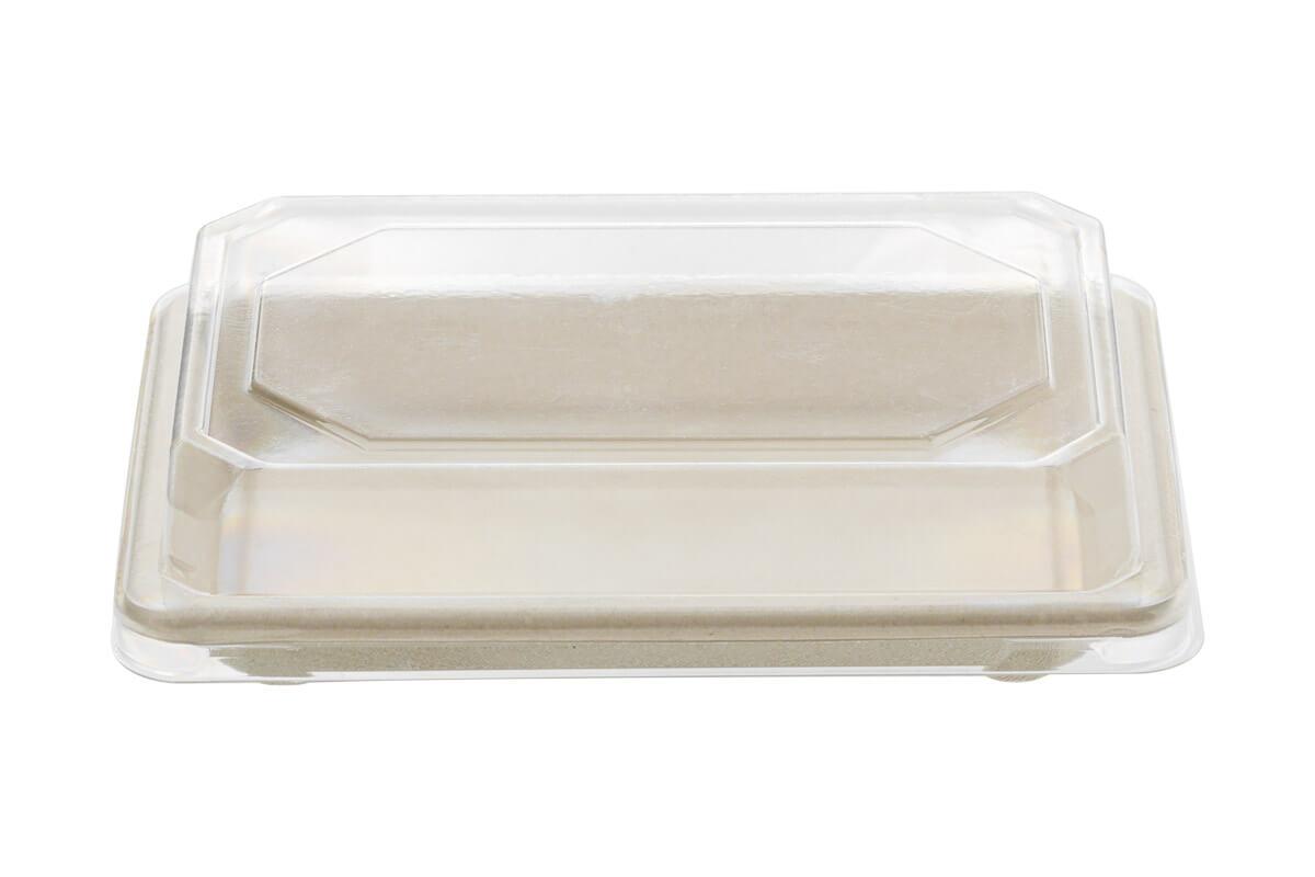 Σκεύος Σούσι από Ζαχαροκάλαμο Ν.8 165x115x21 με Καπάκι RPET | TESSERA Bio Products®