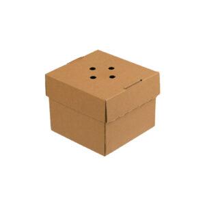 Χάρτινο Kraft Κουτί Φαγητού Τετράγωνο 12x12x10 cm