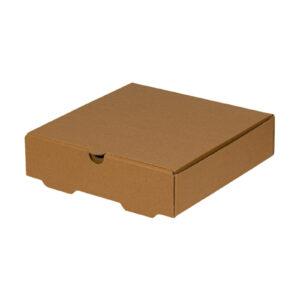 Χάρτινο Kraft Κουτί Φαγητού Τετράγωνο Βάφλας - Κρέπας, 20x20x5 cm