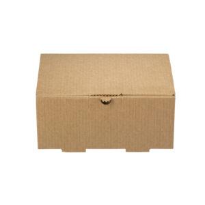 Δίφυλλο Χάρτινο Κουτί Φαγητού Kraft Μεγάλη Μερίδα