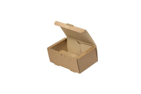 Δίφυλλο Χάρτινο Κουτί Φαγητού Kraft Διπλό Burger