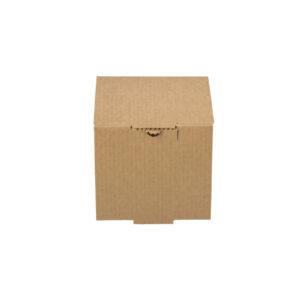 Δίφυλλο Χάρτινο Κουτί Φαγητού Kraft Ψηλό Μονό Burger