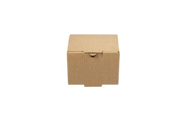 Δίφυλλο Χάρτινο Κουτί Φαγητού Kraft Μονό Burger