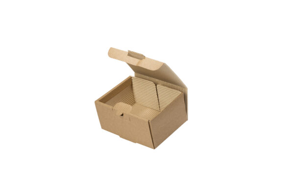 Δίφυλλο Χάρτινο Κουτί Φαγητού Kraft Μικρή Μερίδα