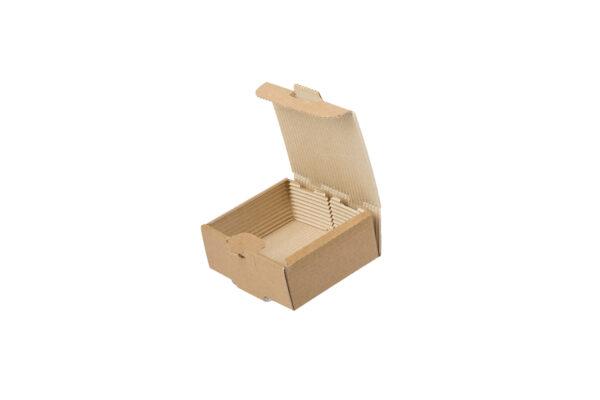 Δίφυλλο Χάρτινο Κουτί Φαγητού Kraft Μονής Πατάτας