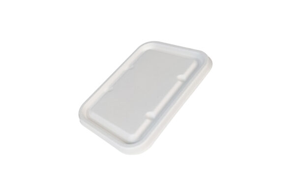 Sugarcane Lid for Injection Sugarcane M/W Food Containers 500 - 1000 ml   TESSERA Bio Products®
