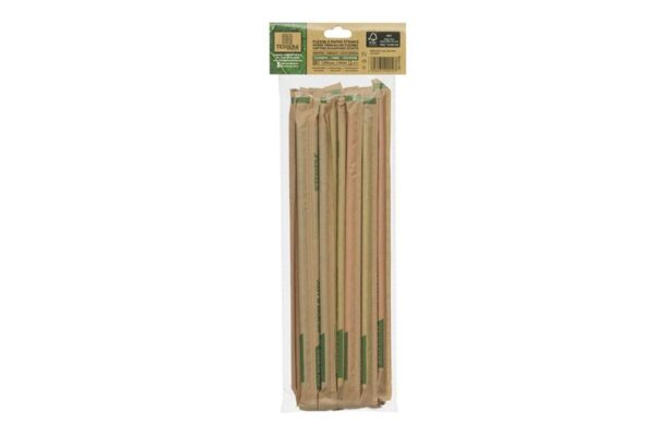 Flexible Paper Straws in 5 Colors Ø 0.6 cm x 21 cm FSC, Wrapped 1/1 | TESSERA Bio Products®